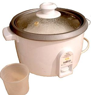 Inexpensive electric rice cooker containing co...