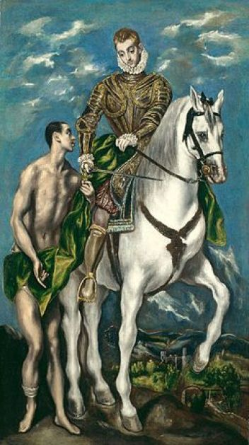 Saint Martin and the Beggar (c1597-1600) by El Greco - Chicago