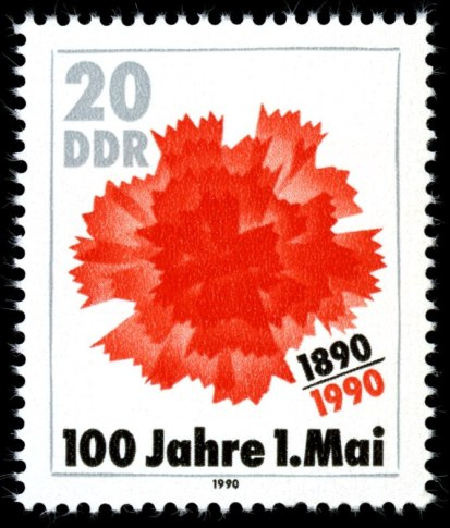 A stamp from East Germany celebrating the 100-...