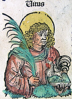 Saint Vitus, from the Nuremberg Chronicle, 149...