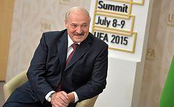 Alexander Lukashenko during the 7th BRICS summit in Ufa.