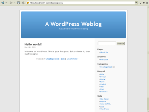 Wordpress default1 mainpage