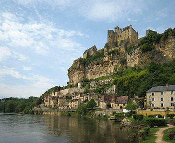 Village of Beynac-et-Cazenac, situated at the ...