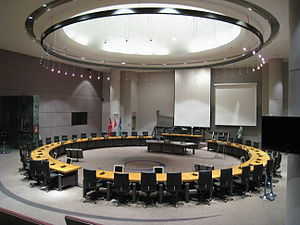 Council chamber at Ottawa City Hall.
