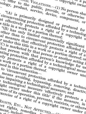 Fragment of the Digital Millennium Copyright A...