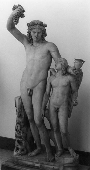 Dionysus and Eros, Naples Archeological Museum.