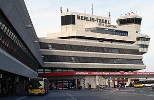 Entrance area of airport Berlin-Tegel (TXL/EDDT)