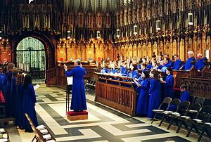 Anglican choir music - a guest choir practices...