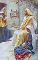 English: Jesus at the house of Mary and Martha