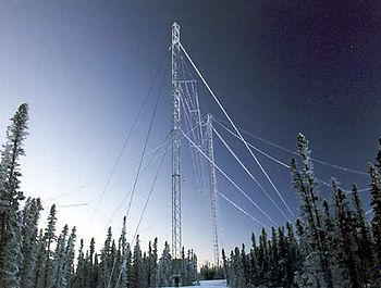 English: The HAARP HF Ionosonde Antenna Deutsc...