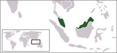Położenie Malezji