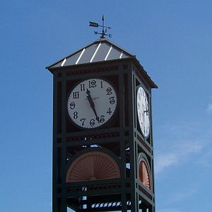 Clock tower in Longwood Historic District