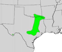 Maclura pomifera range map.png