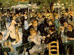 Dance at Le Moulin de la Galette (Le Bal au Moulin de la Galette), 1876, Pierre-Auguste Renoir