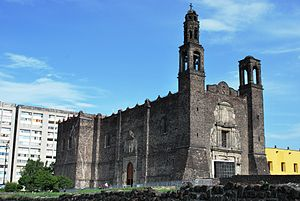 View of the Church of Santiago at the Plaza de...