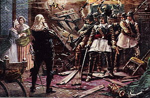 English: 'Cromwell's soldiers breaking into th...