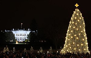 The U.S. National Christmas Tree shines bright...