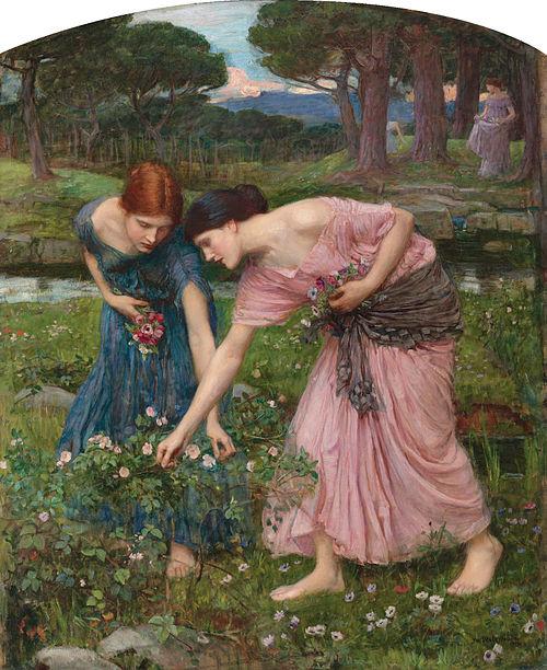 Waterhouse-gather ye rosebuds-1909