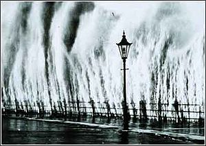 English: This image shows storm surge from the...