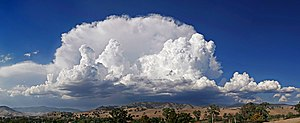 Anvil shaped thundercloud in the mature stage ...