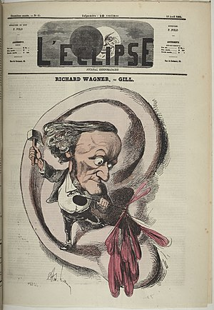 Caricature of Richard Wagner Cover of L'Eclips...