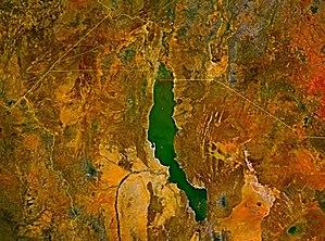 Satellite image of Lake Turkana. Note the jade...