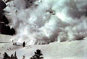 A powder snow avalanche