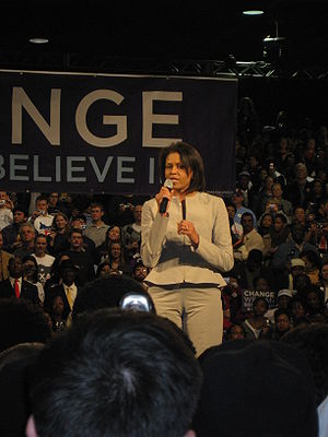 Michelle Obama in Houston, Texas on the eve of...