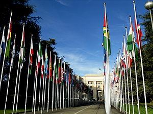 English: Palace of Nations. ONU at Geneva, Swi...