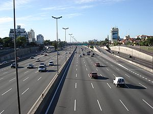 Autopista Panamericana, imagen tomada sobre el...