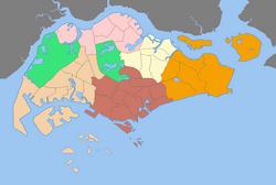 Singapore được chia thành 55 khu vực quy hoạch