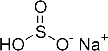 chemical structure of sodium bisulfite (bisulp...