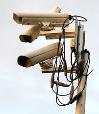 A 'nest' of surveillance cameras at the Gillet...