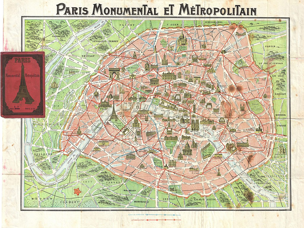 1920 Robelin Map of Paris, France - Geographicus - Paris-robelin-1920
