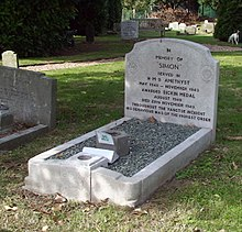 Simon the Cat's grave