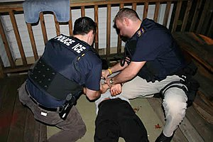 Arrest of a fugitive made on the floor by Unit...