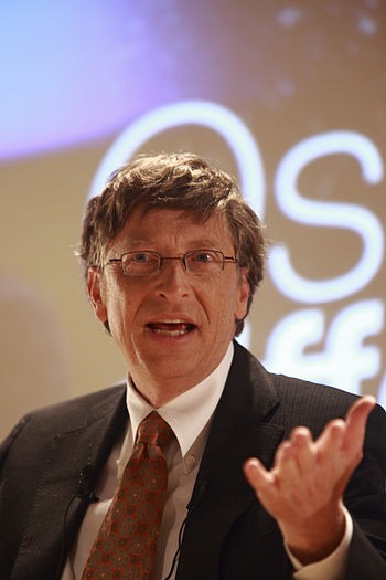 English: Bill Gates at Medef Français : Bill G...