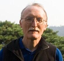 Translator Bruce Fulton Outside in Seoul.