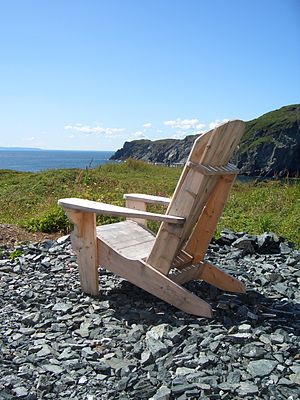 Chair in St. Anthony, Newfoundland, Canada