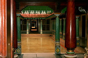 Courtyard of a Chettinad house