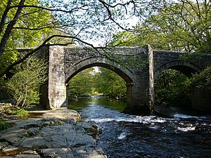 Newbridge on the River Dart near Spitchwick on...