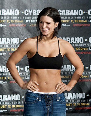 English: Mixed martial arts fighter Gina Caran...
