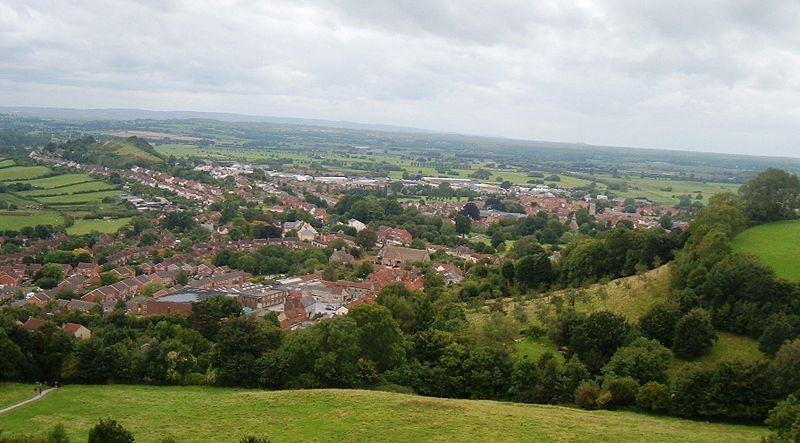 File:Glastonbury from the Tor.JPG
