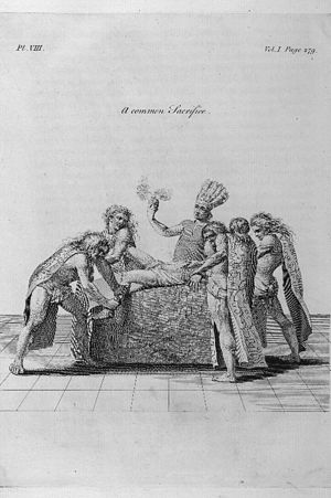 Français : Sacrifice humain chez les Aztèques ...