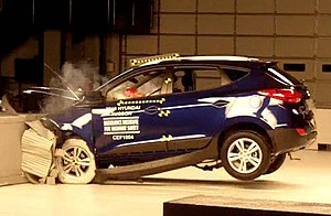 Crash-test of a 2010 Hyundai Tucson GLS at the...
