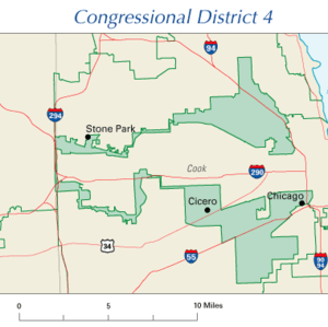The earmuff shape of Illinois's 4th congressio...
