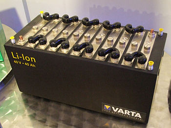 Lithium ion battery by Varta (Museum Autovisio...