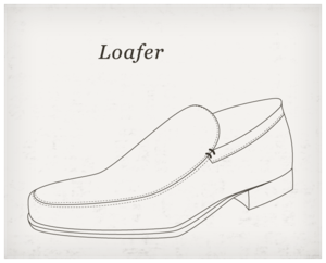 English: Loafer is a comfortable shoe which fi...