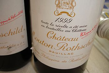 Wine label from the French Bordeaux producer