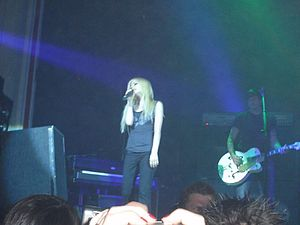 English: Avril Lavigne in a concert Europe